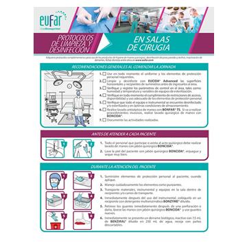 Protocolo limpieza y desinfección en salas de cirugía