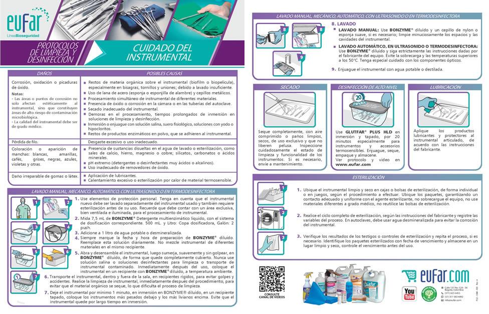 Protocolo cuidado del instrumentak